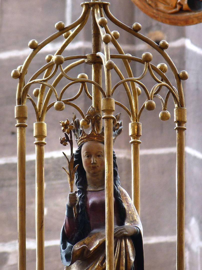 St. Mary´s chandelier Encasement with Mary