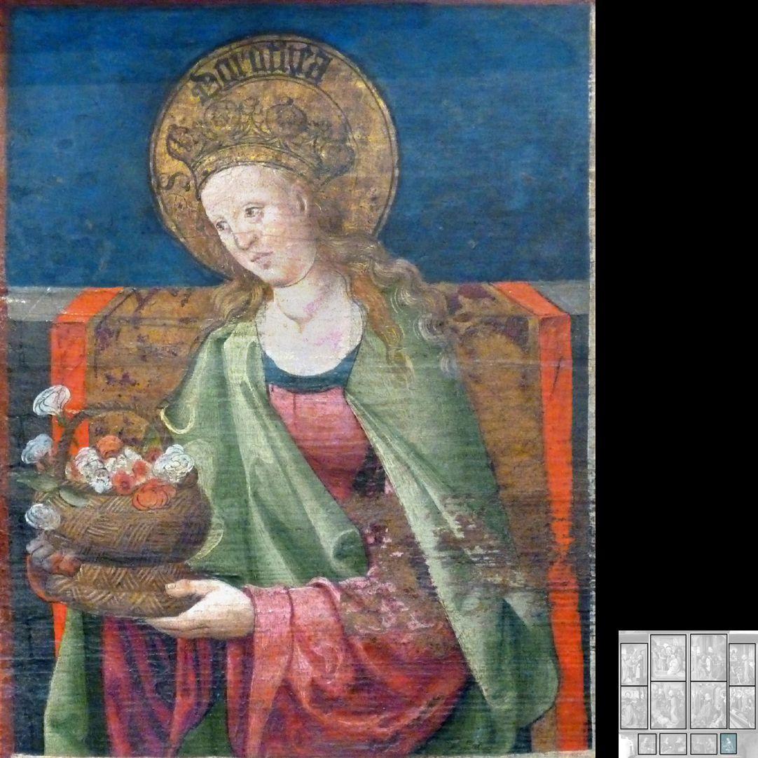 Marthaaltar Predella, Dorothea