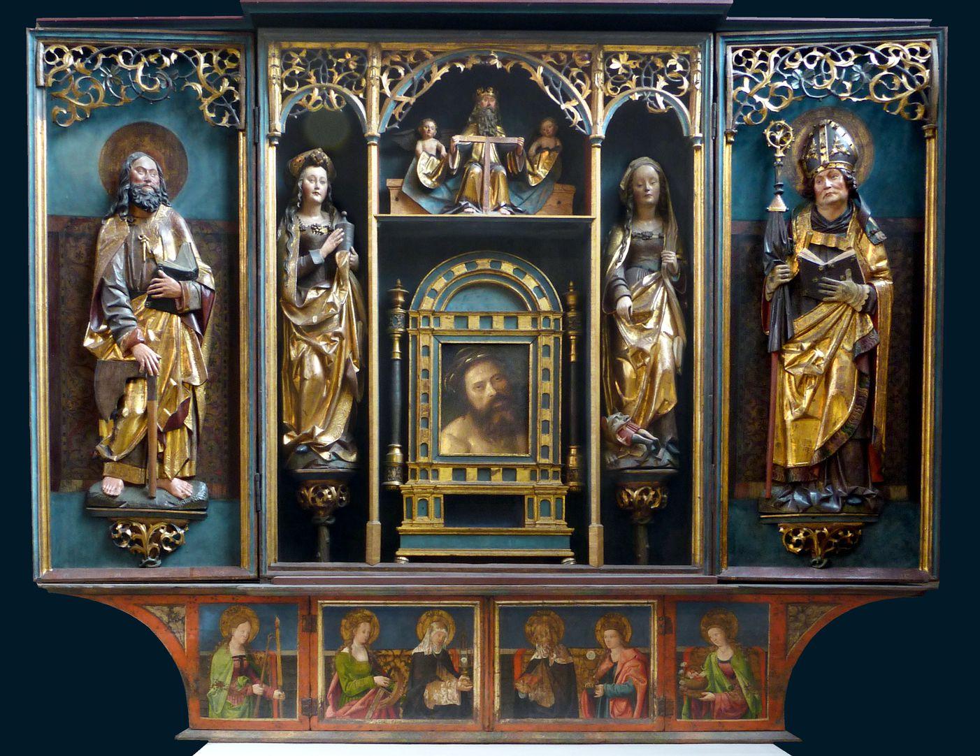 Marthaaltar Altar mit geöffneten Flügeln