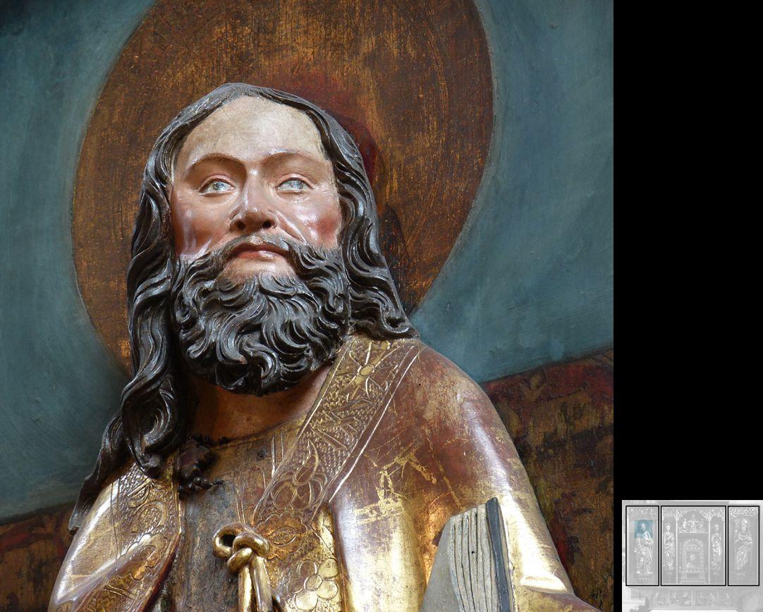 Marthaaltar Apostel Matthias, Detailansicht