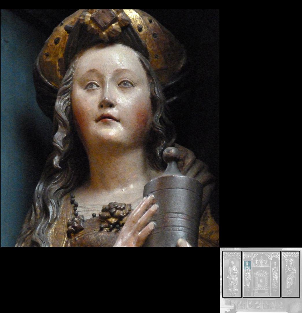 Marthaaltar Maria Magdalena mit Salbgefäß