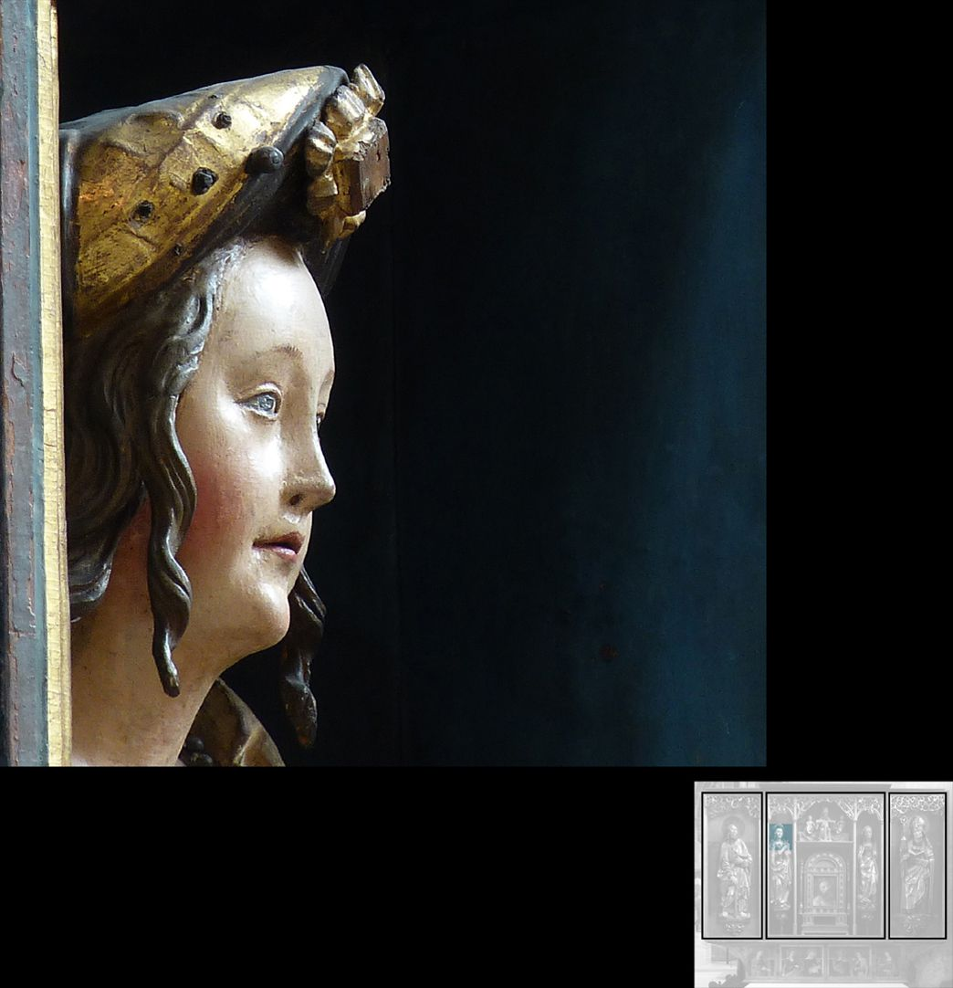 Marthaaltar Maria Magdalena, Detail