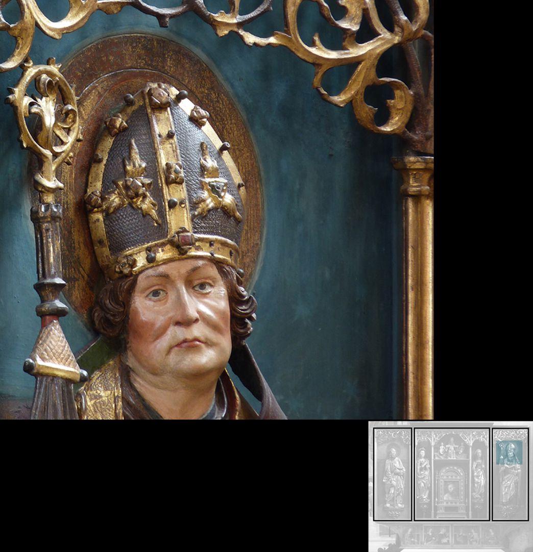 Marthaaltar Bischof Fronto von Périgueux ?, Kopf
