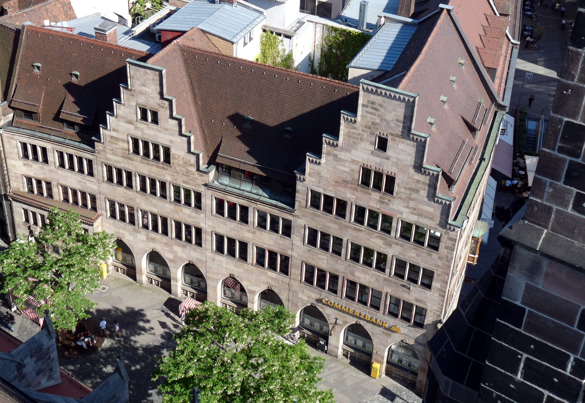Commercial Bank North front from above