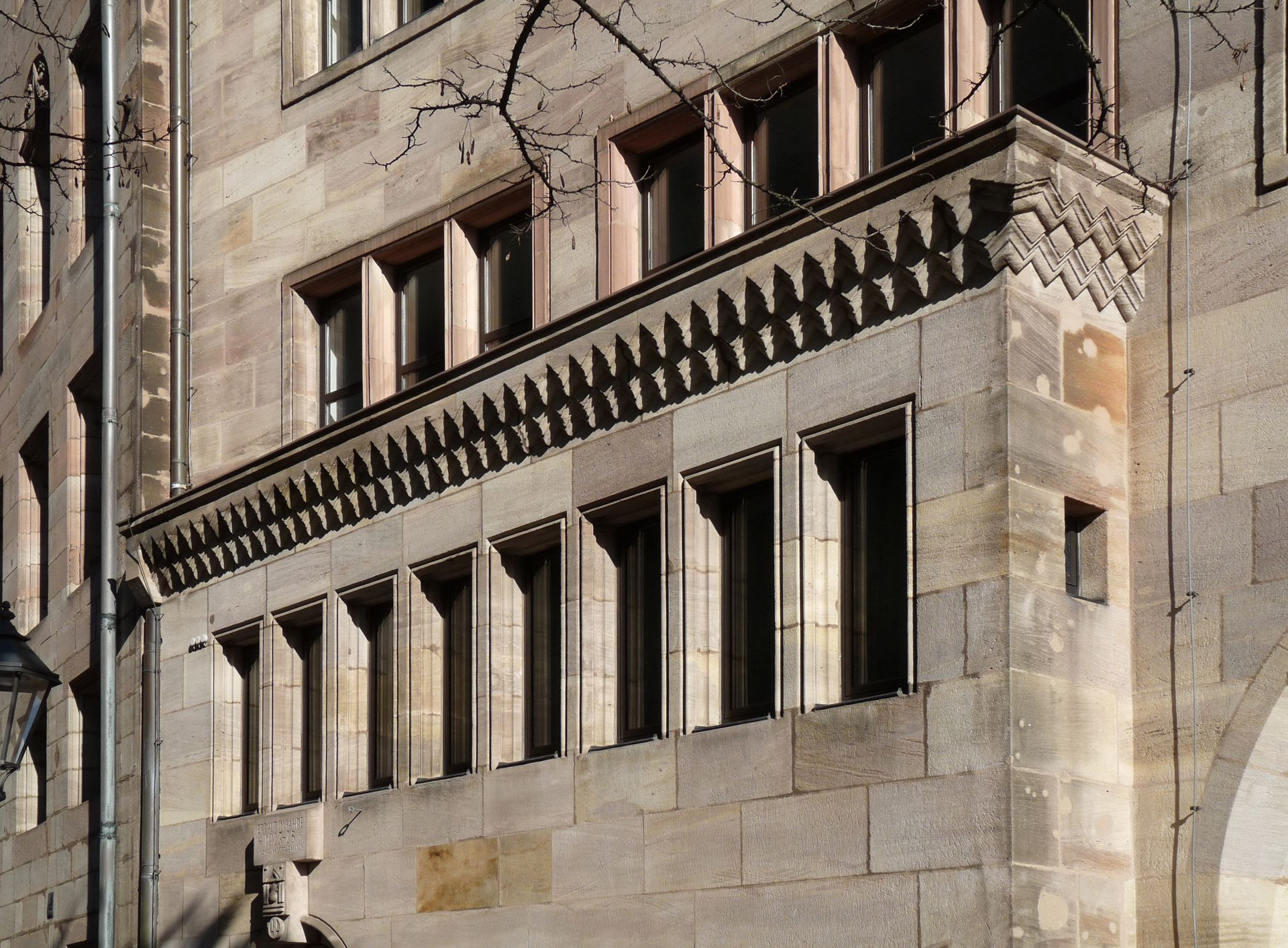 Commercial Bank Detail of the north front, ledge