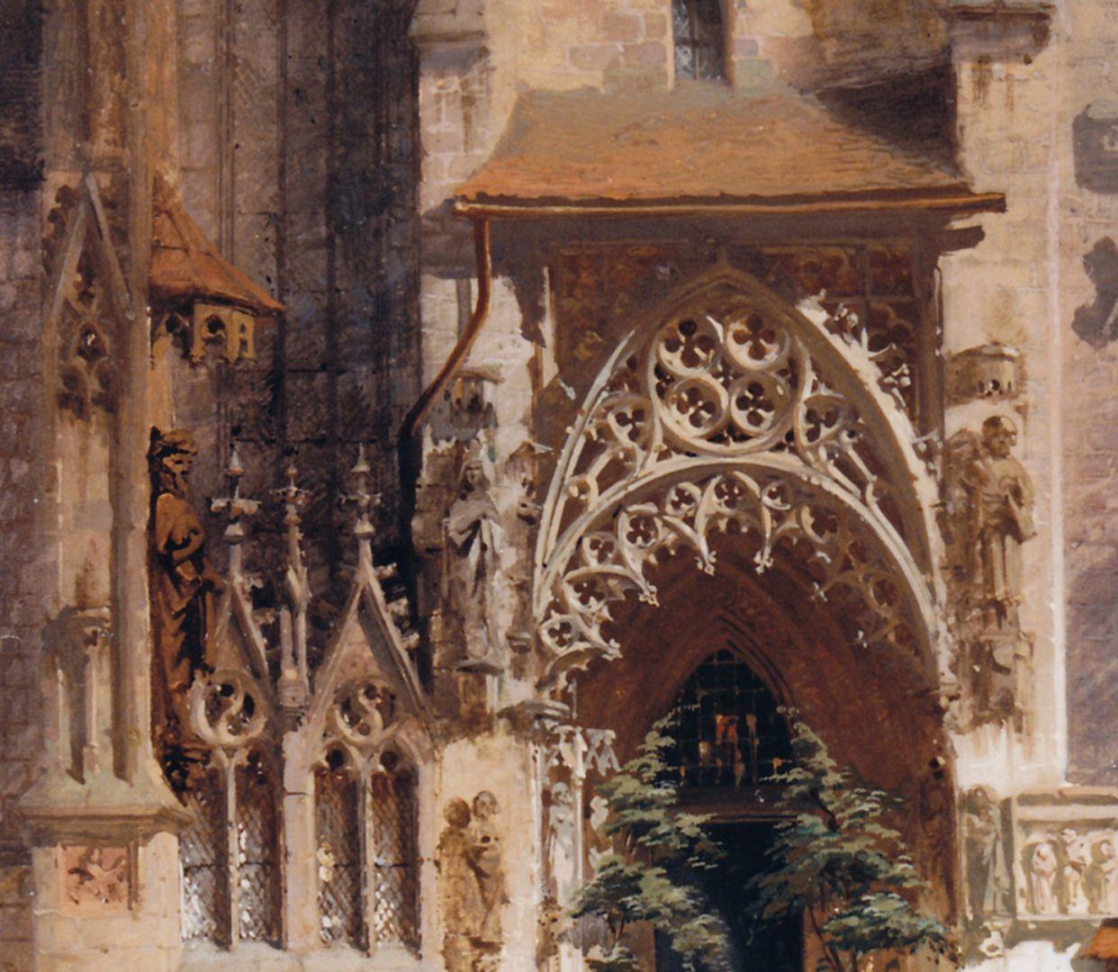 Bridal portal at the Sebaldus Church Detail