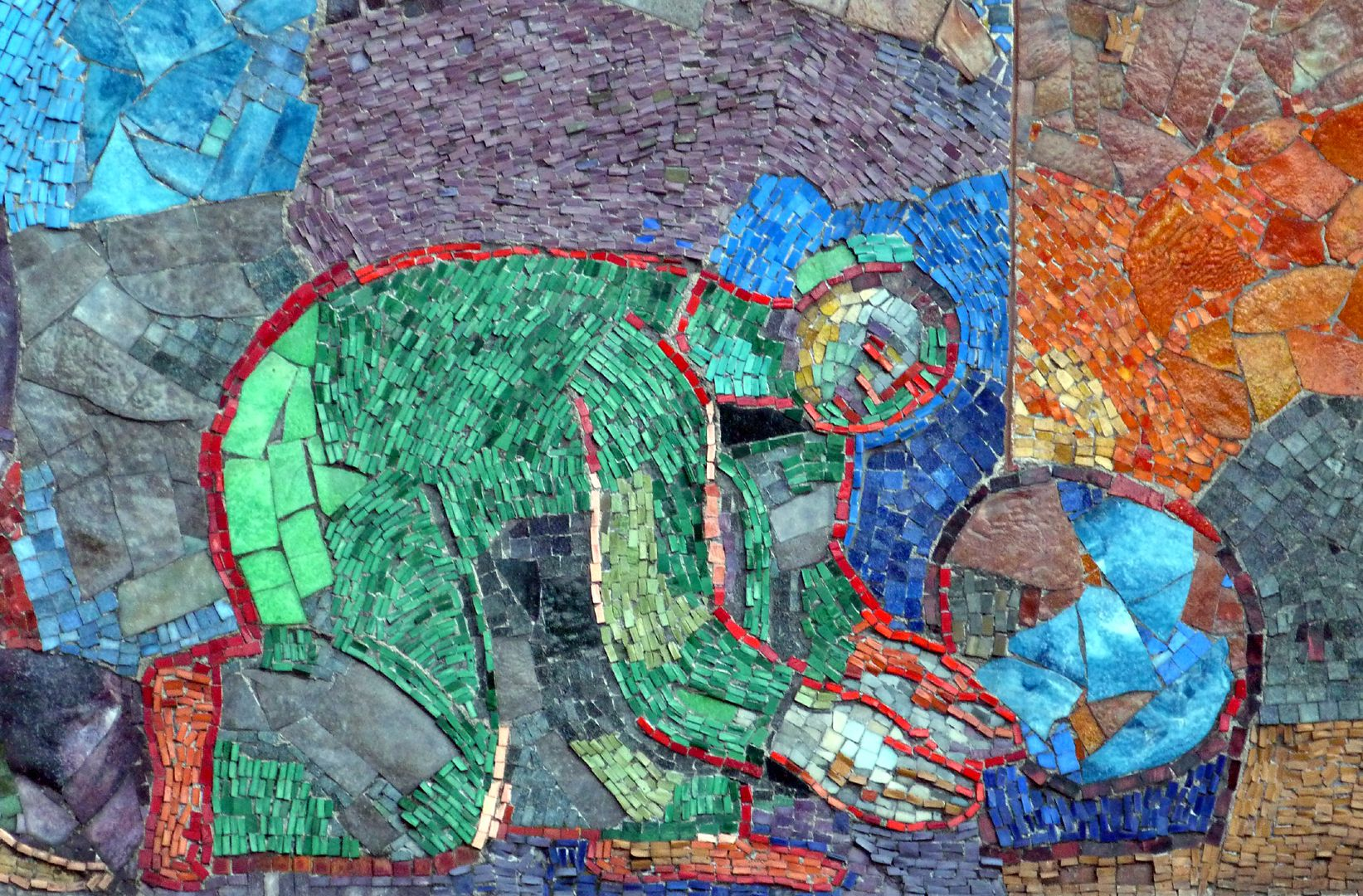 Mosaic on the Main Market (Hauptmarkt) in Nuremberg Suppliers of goods