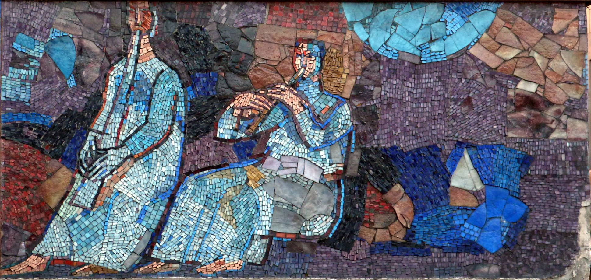 Mosaic on the Main Market (Hauptmarkt) in Nuremberg Musicians