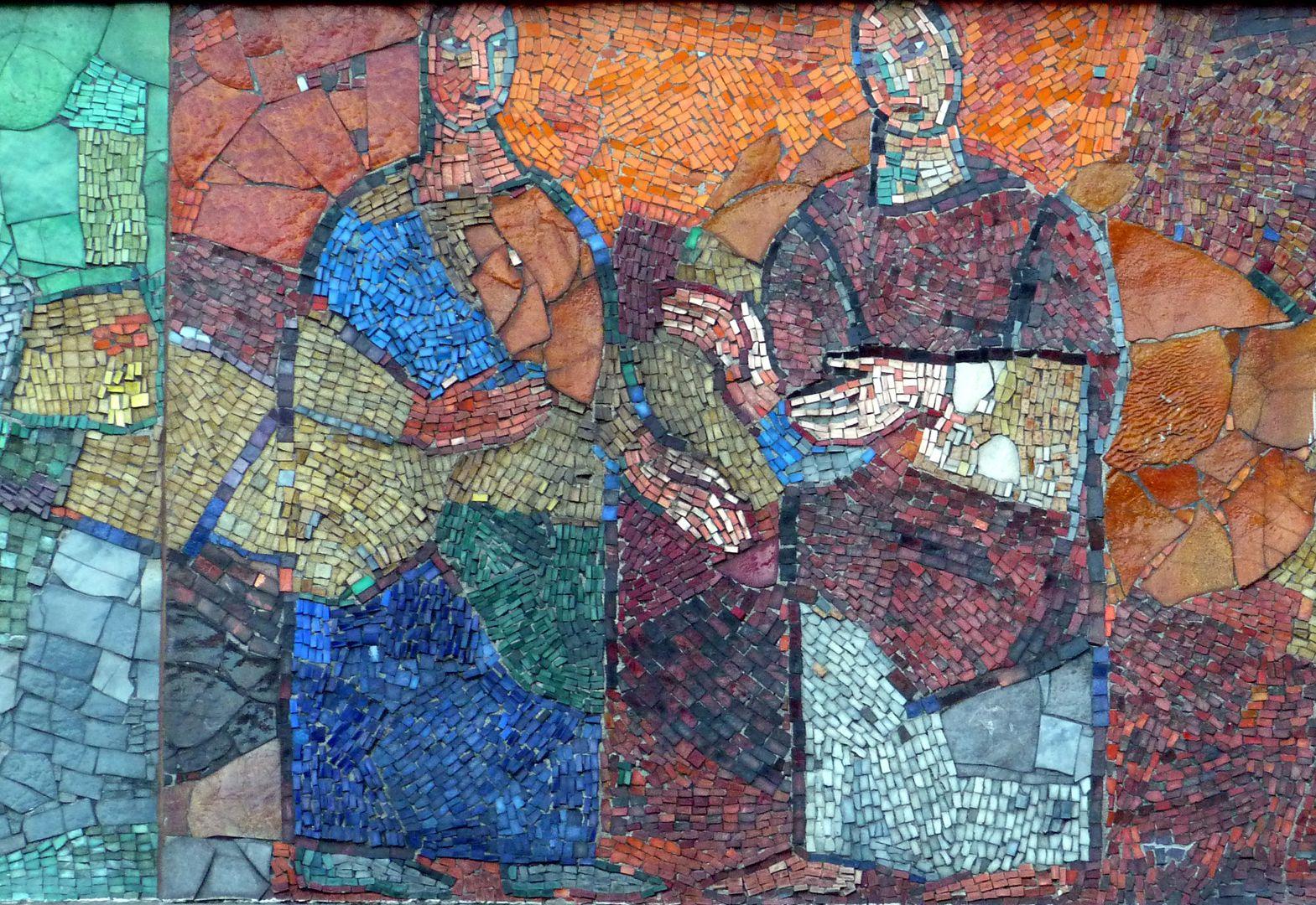 Mosaic on the Main Market (Hauptmarkt) in Nuremberg Talks