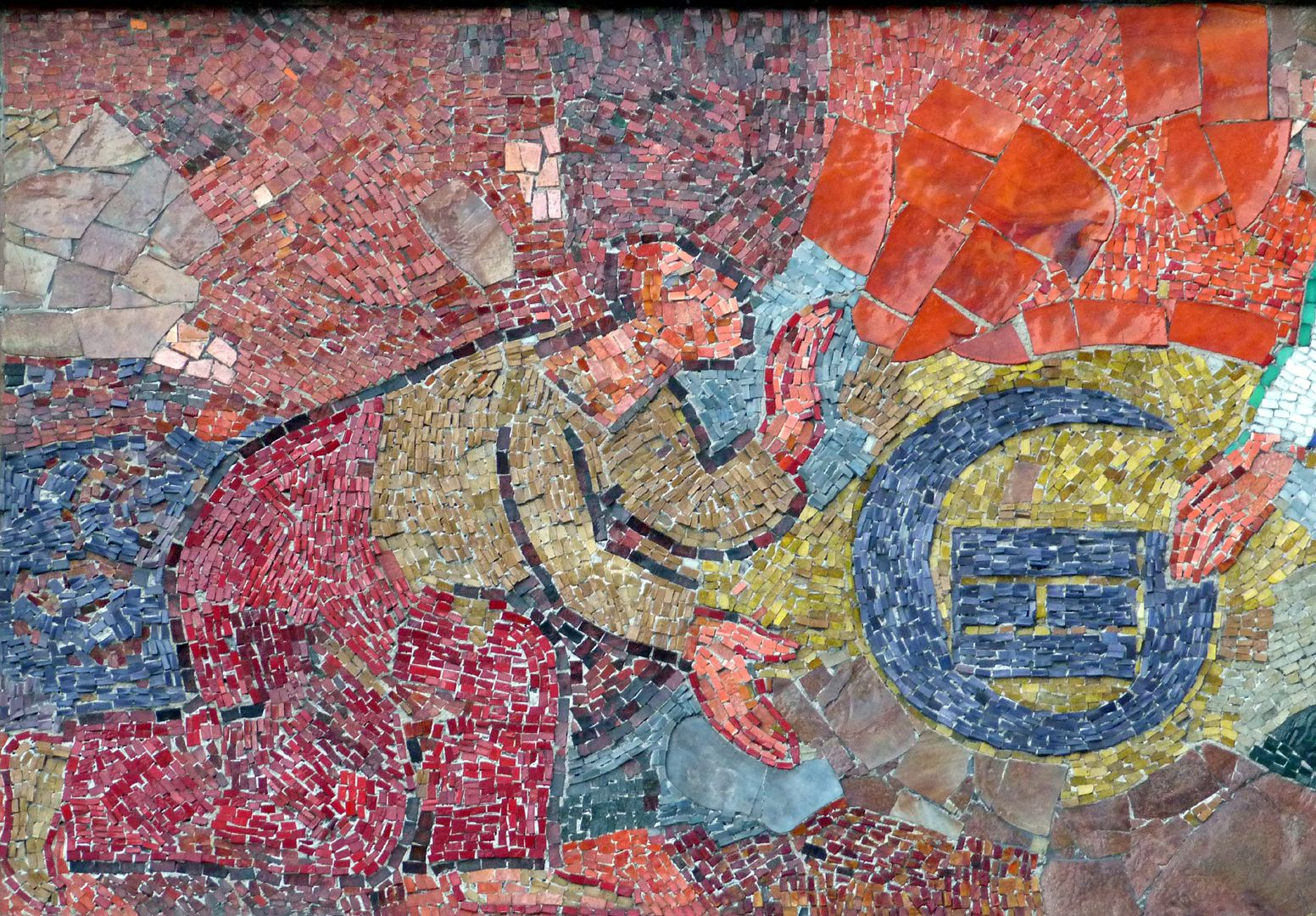 Mosaic on the Main Market (Hauptmarkt) in Nuremberg