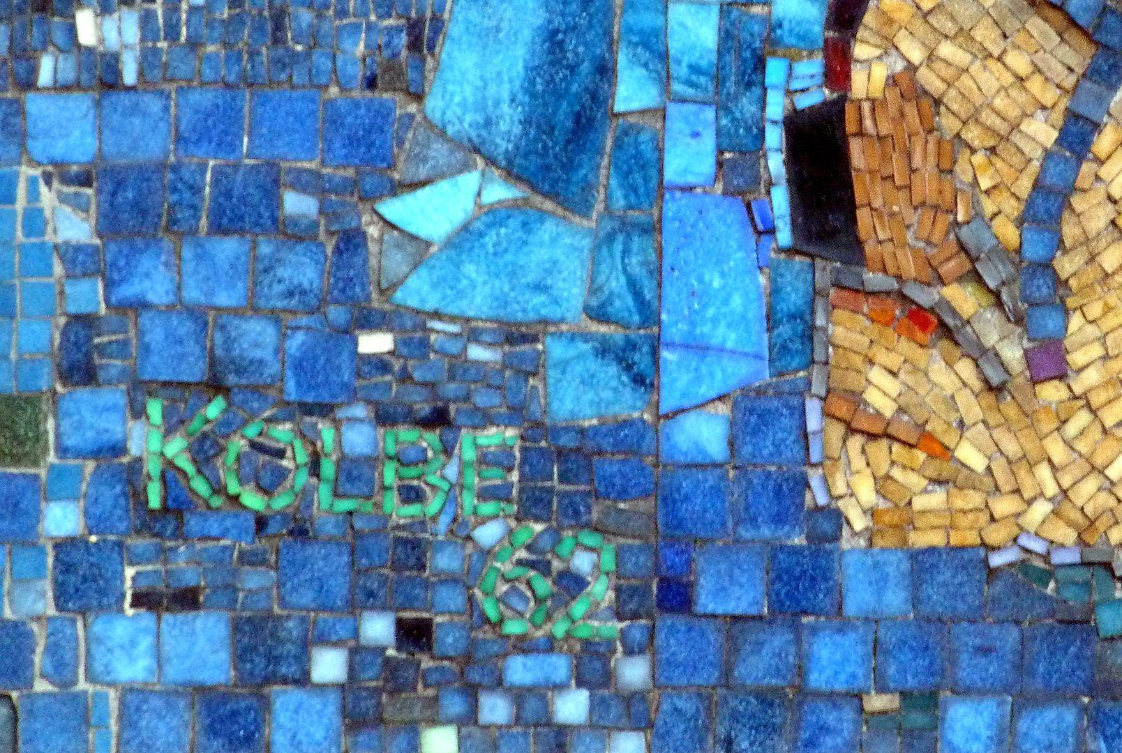 Mosaic on the Main Market (Hauptmarkt) in Nuremberg Artist´s signature and date