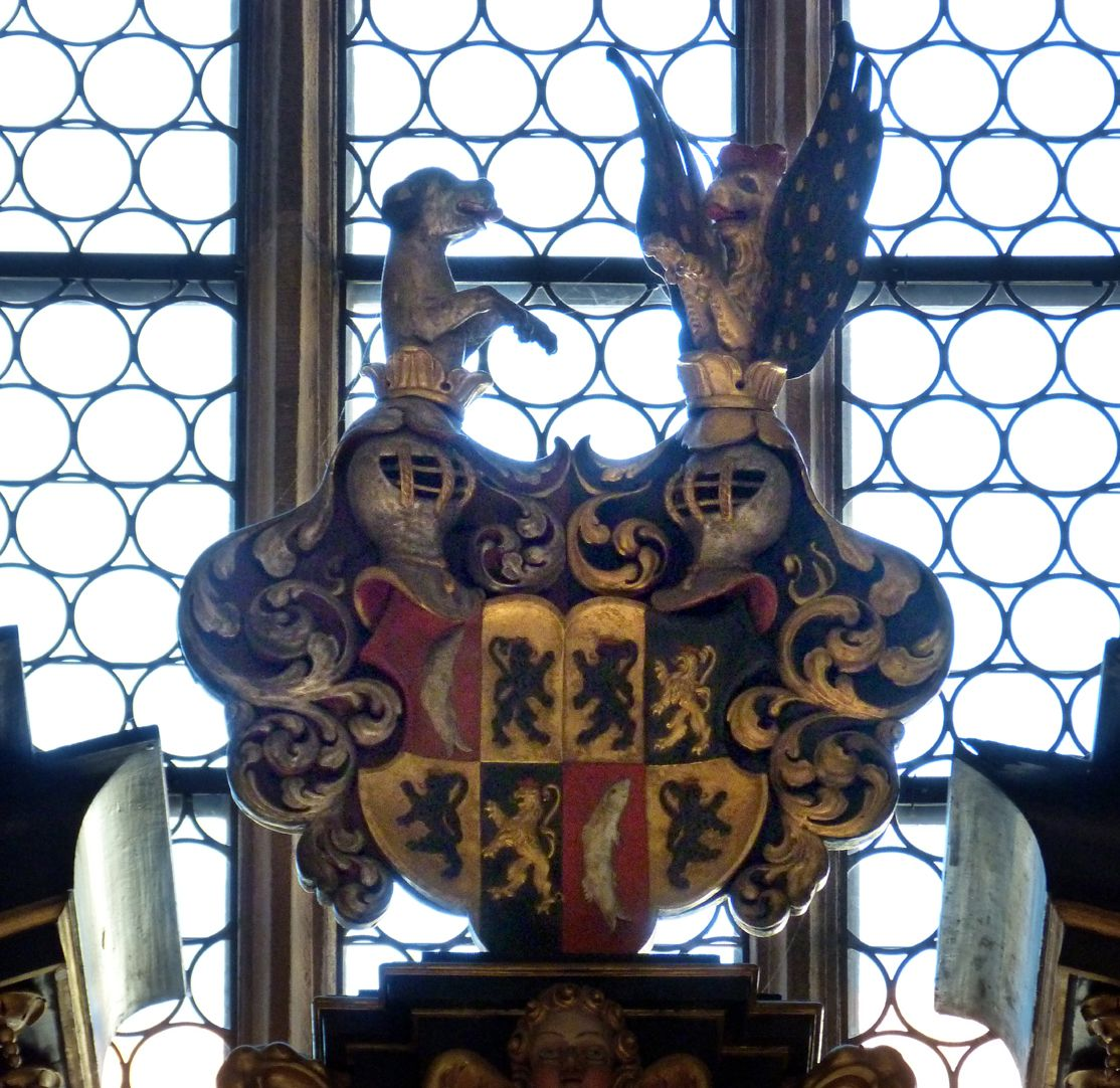Muffel Altar Finial, coat of arms of the Muffel family