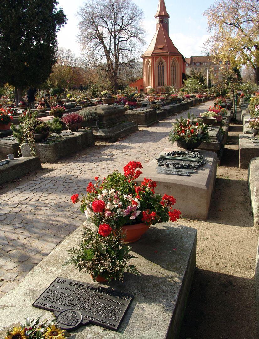 Erich Mulzer Grabstätte Lage im Gräberfeld