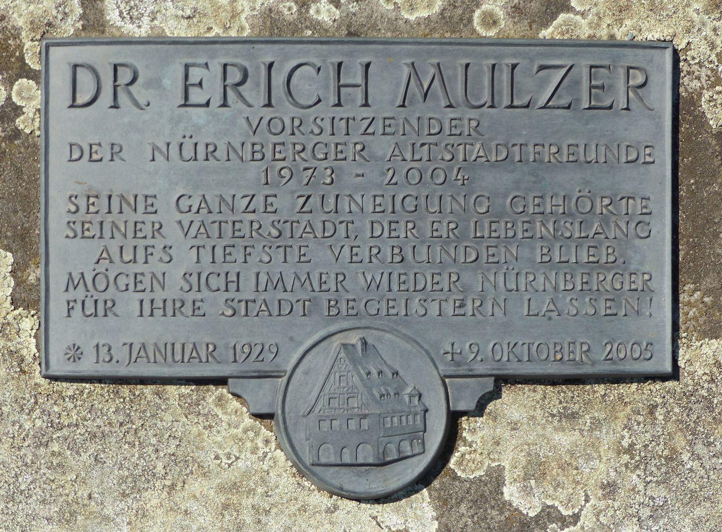 Erich Mulzer Grabstätte