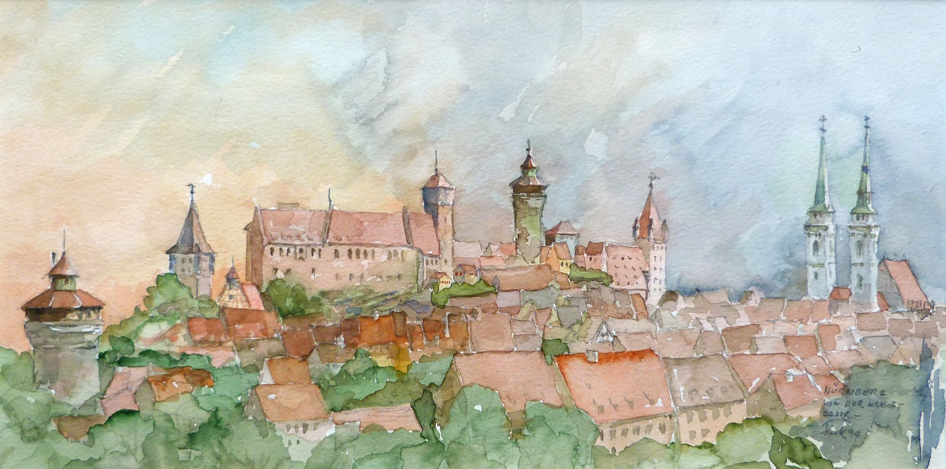 Nuremberg from Kreuzgasse