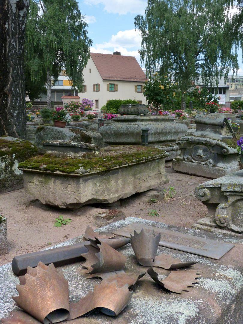 Friedrich Staedler gravesite Location in the burial ground