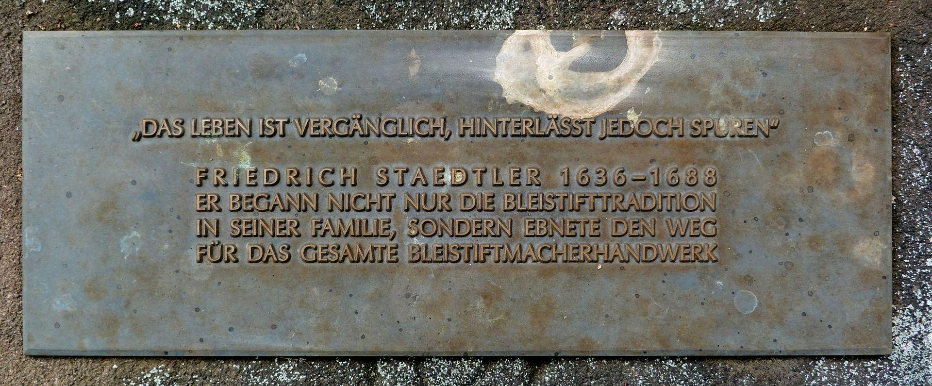 Friedrich Staedler gravesite Inscription