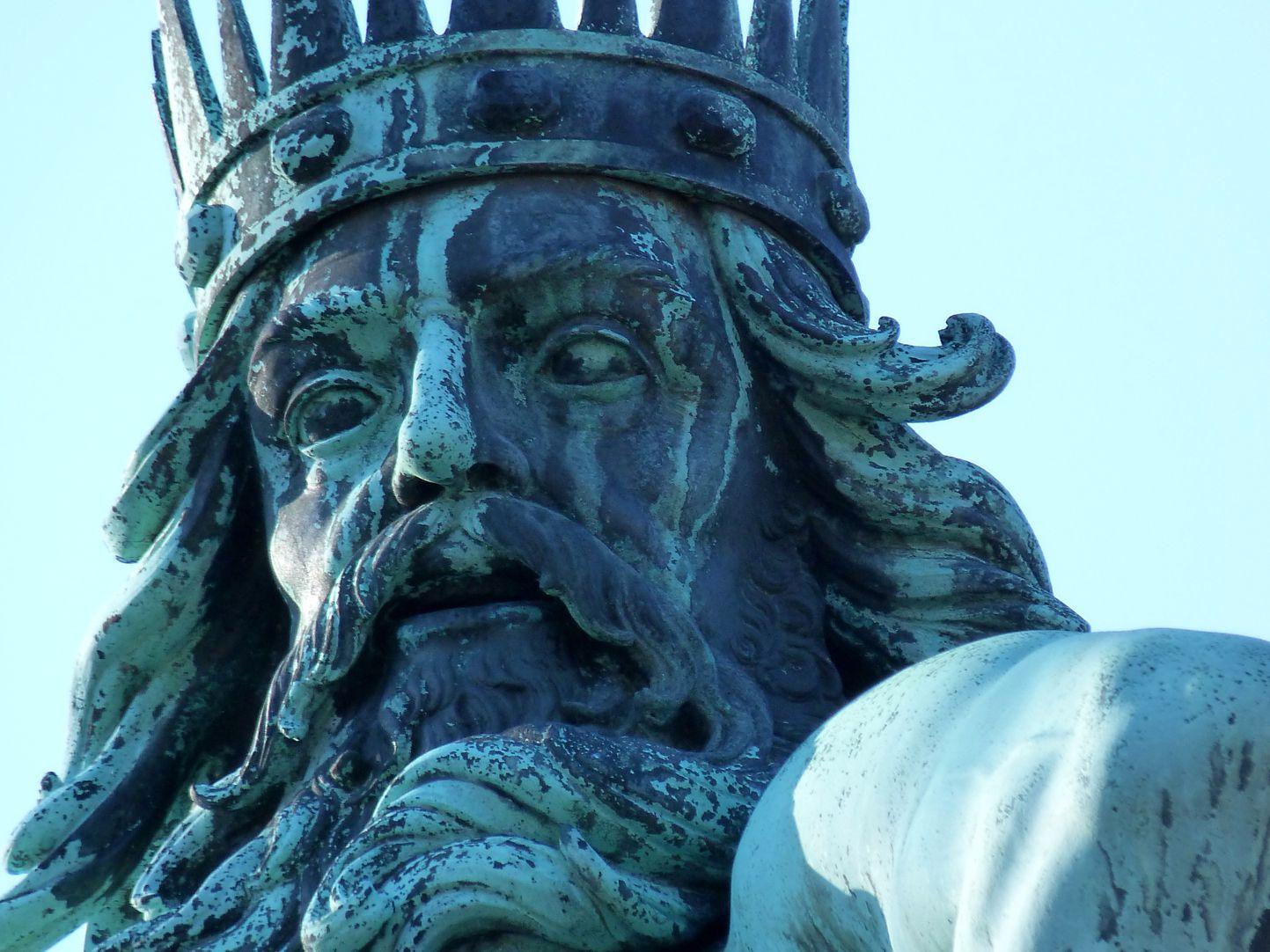 Neptun-Fountain Neptun, Gesicht