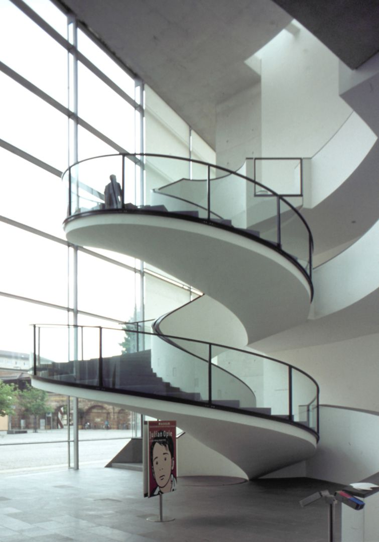 New Museum Spiral staircase with Brazilian appearance