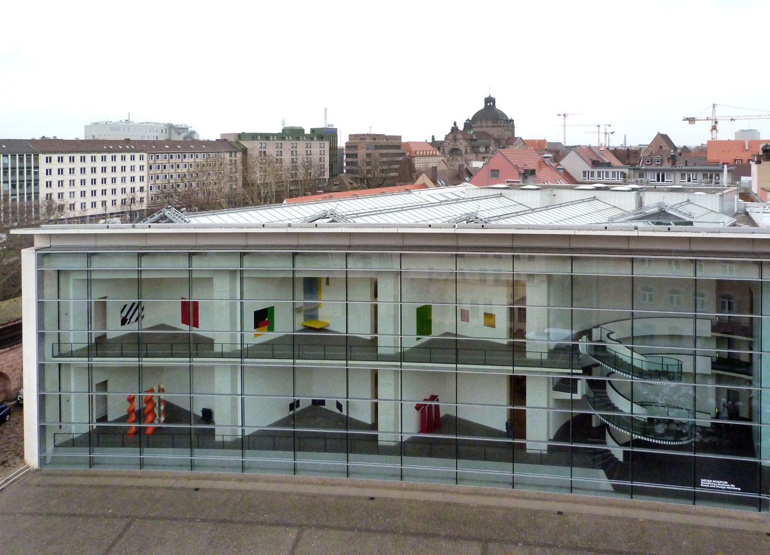 New Museum Main tract with view of the front rooms and the stairwell