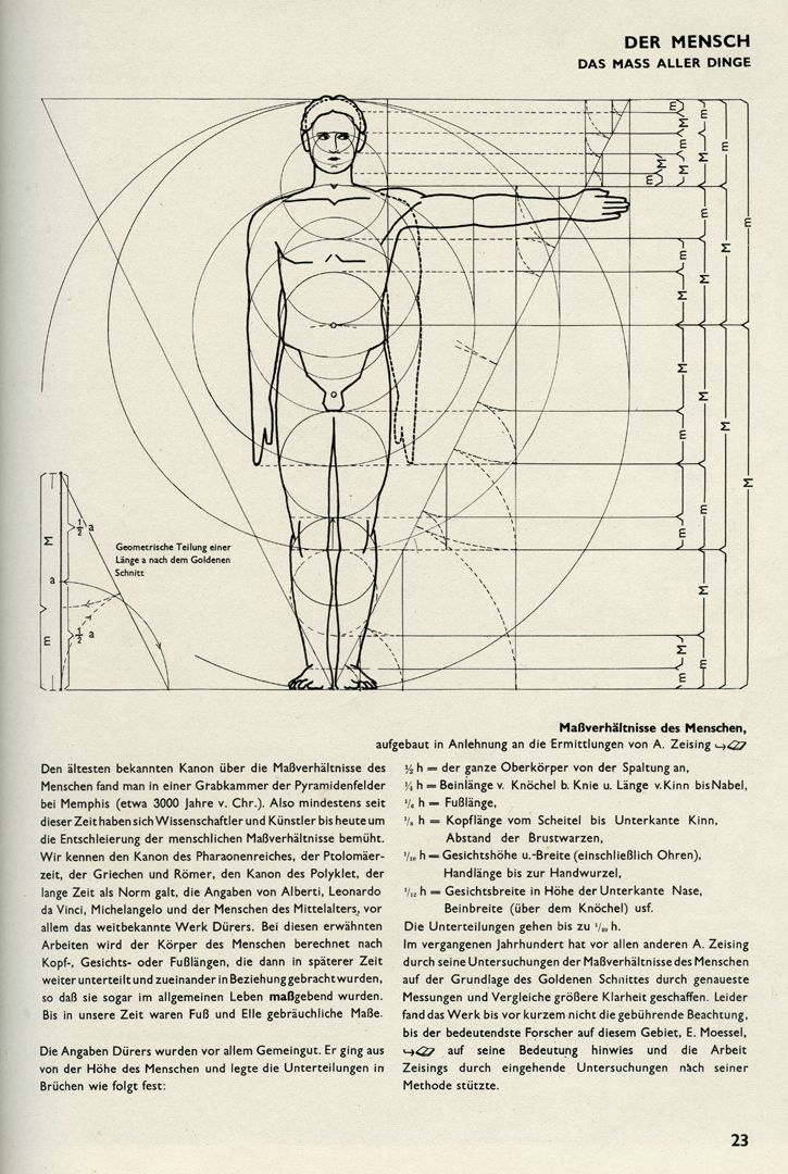 MAN / THE MEASURE OF ALL THINGS Building design, page 23: MAN / THE MEASURE OF ALL THINGS