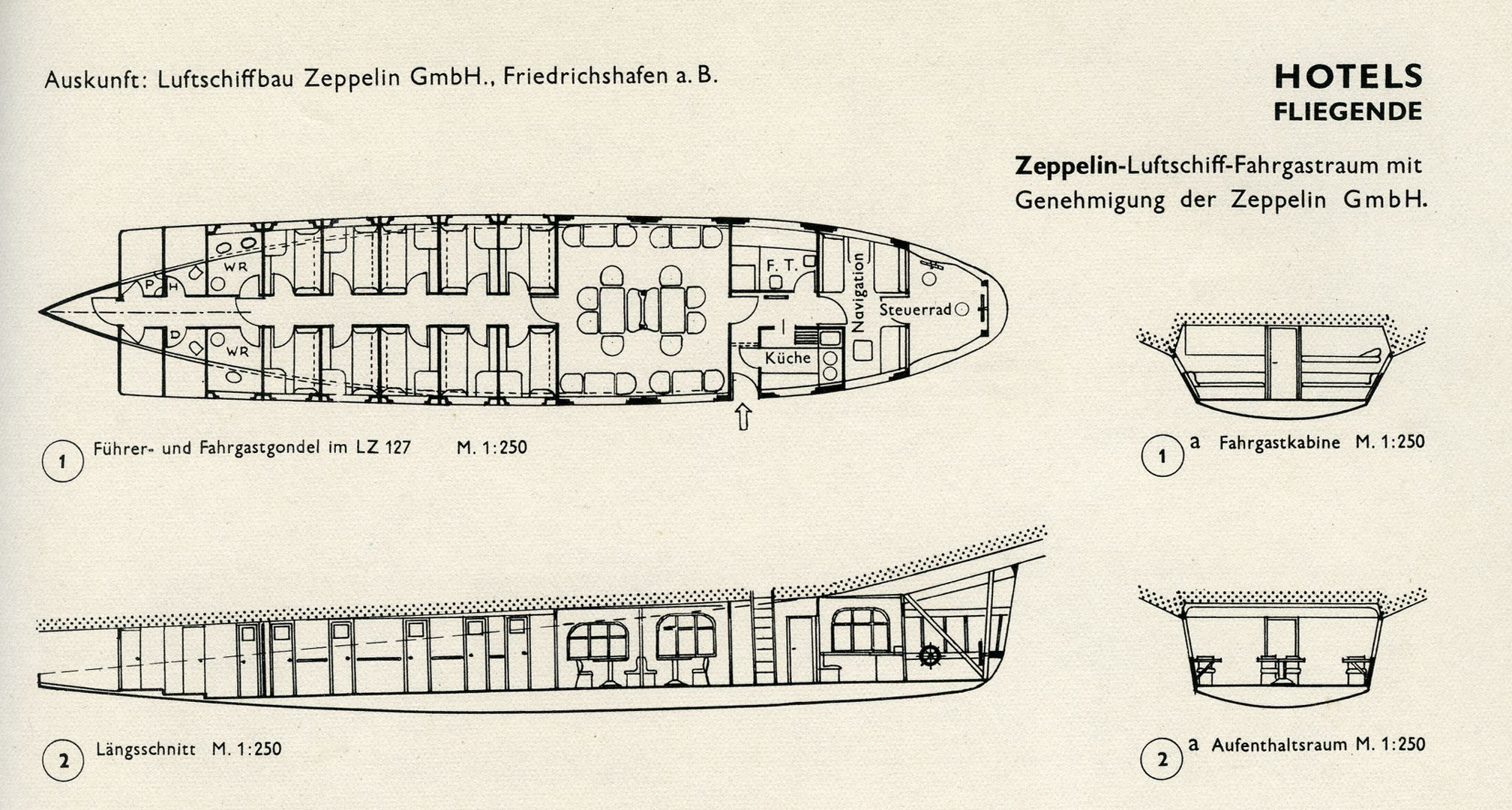 HOTELS / FLYING Airship passenger compartment