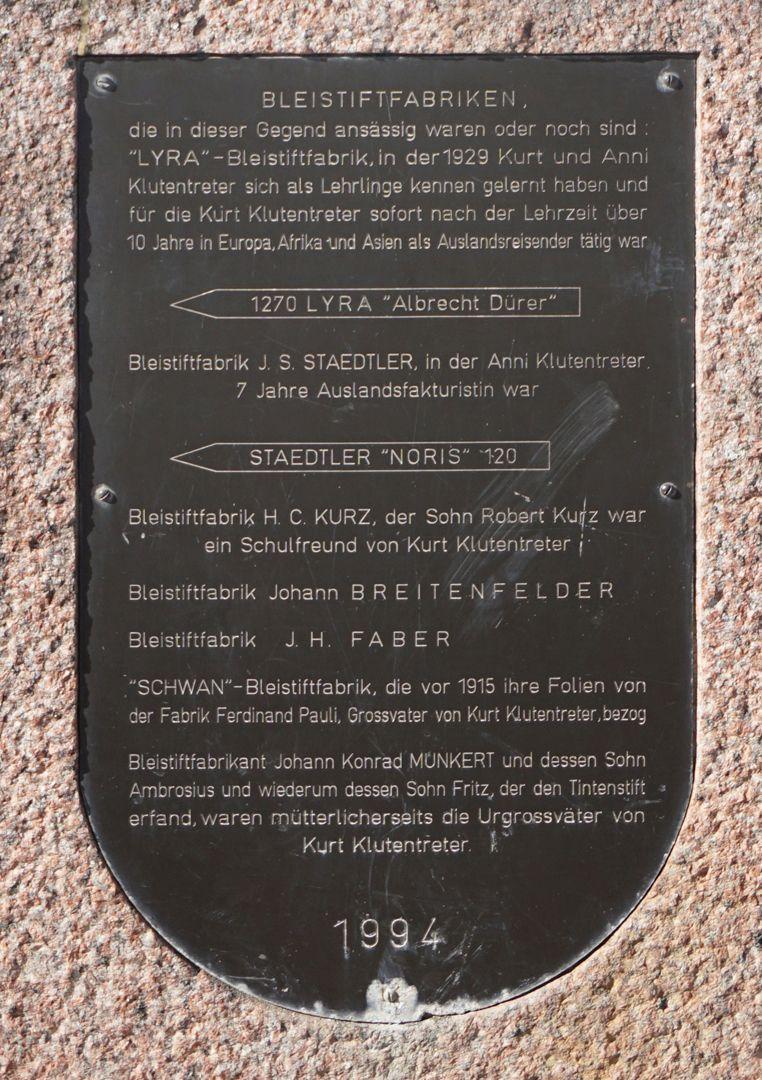 Norisbrunnen Informationstafel