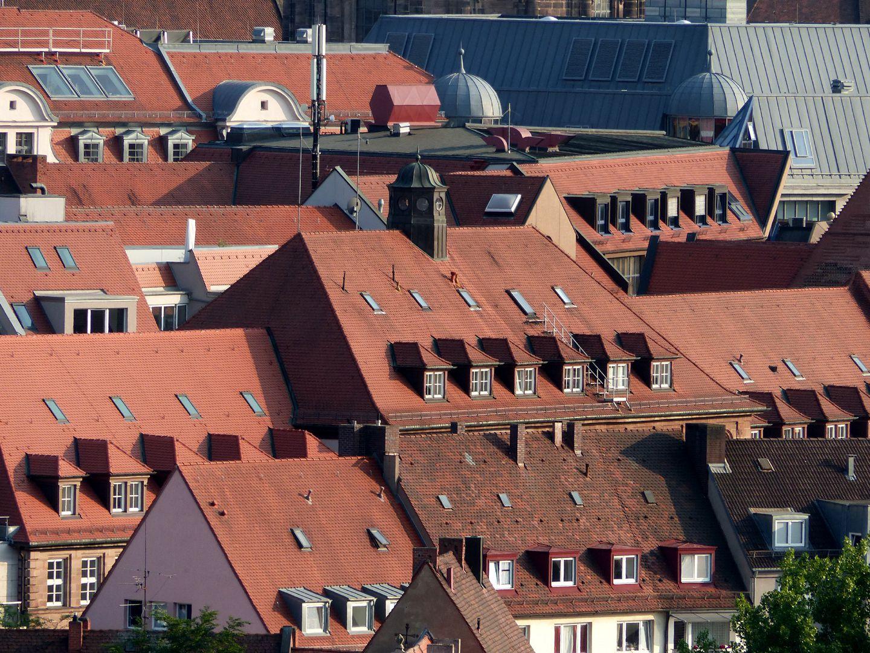 Former General Health Insurance Dächer von Norden