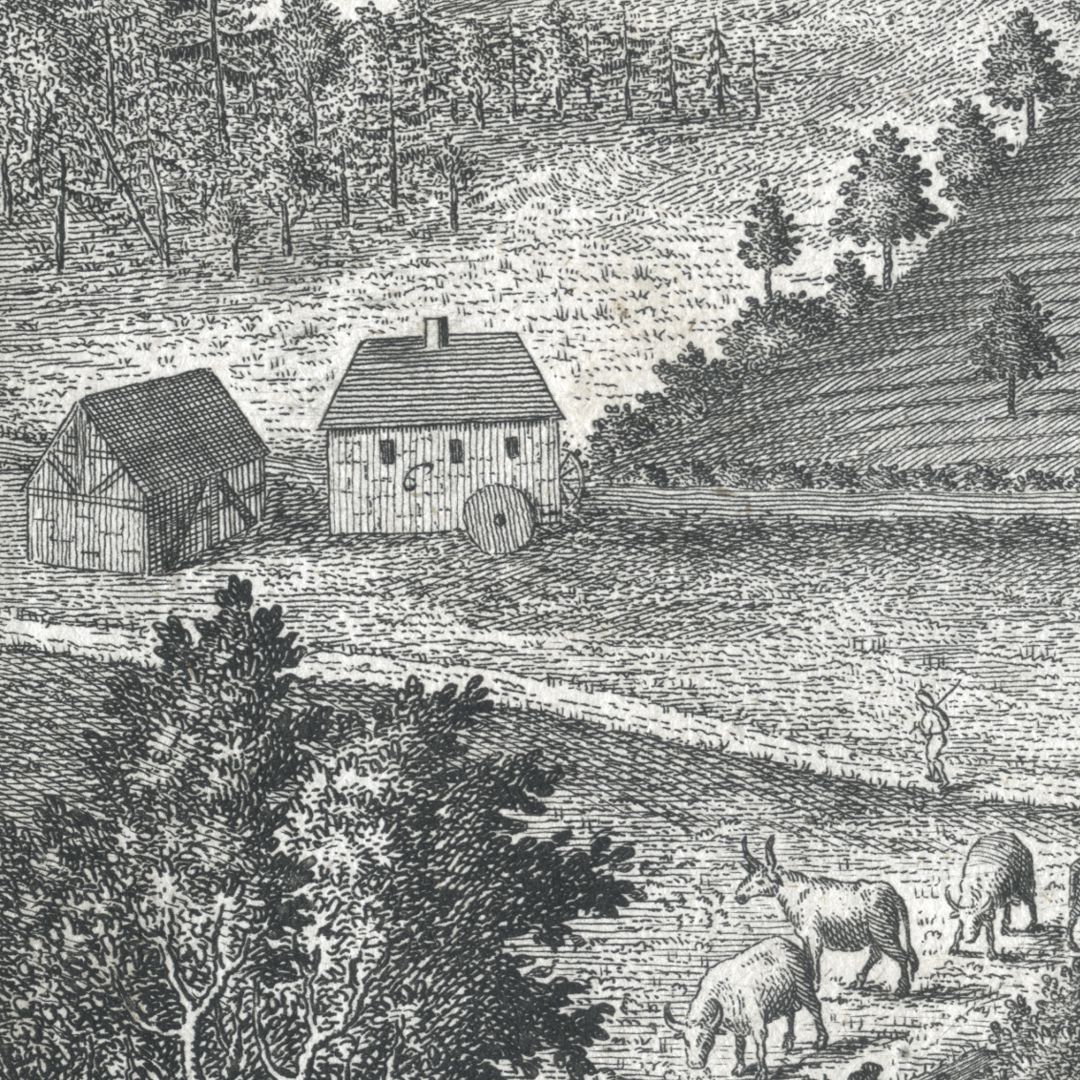Grieß=Hoff  (Griess farm) Section with people´s mill