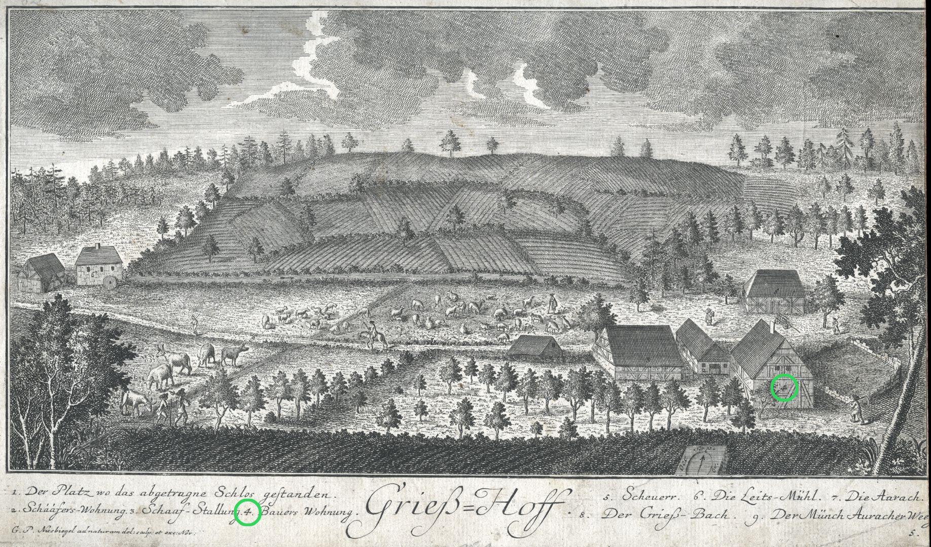Grieß=Hoff  (Griess farm) Farmer´s quarters