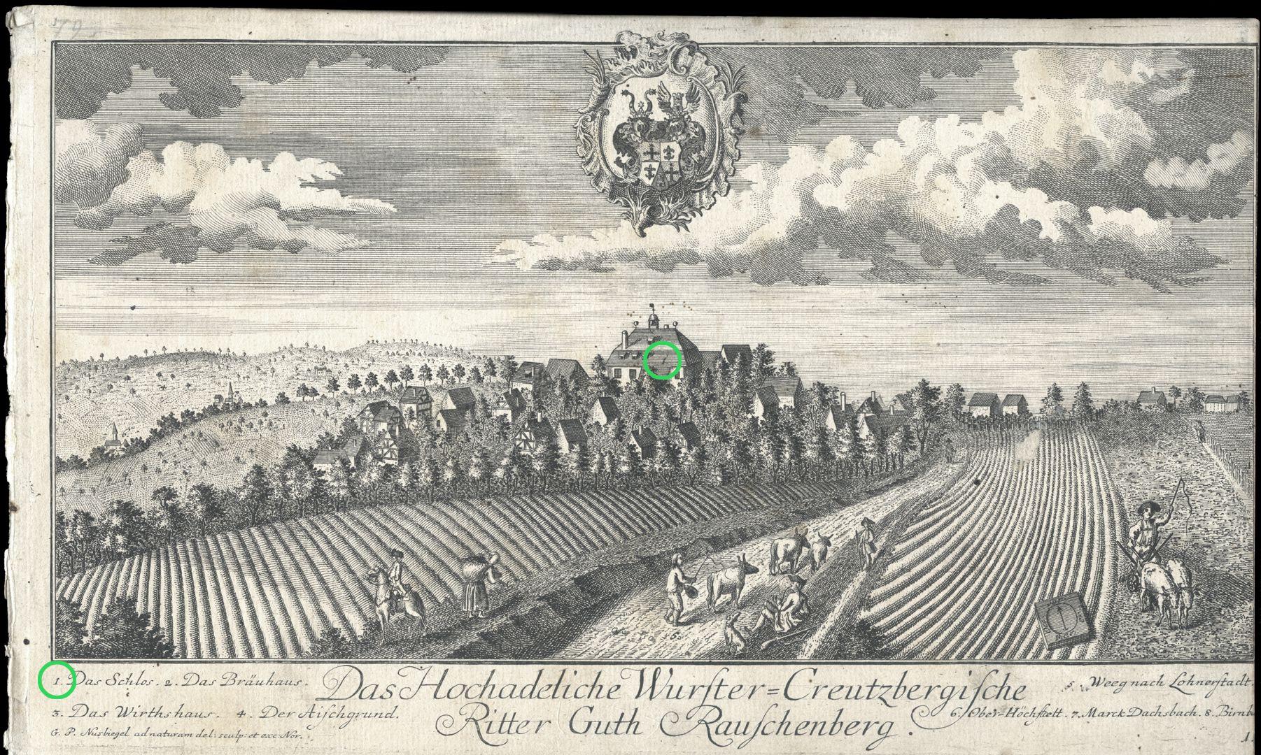 High-nobility-manor Rauschenberg of Wurster-Creutzberg Castle