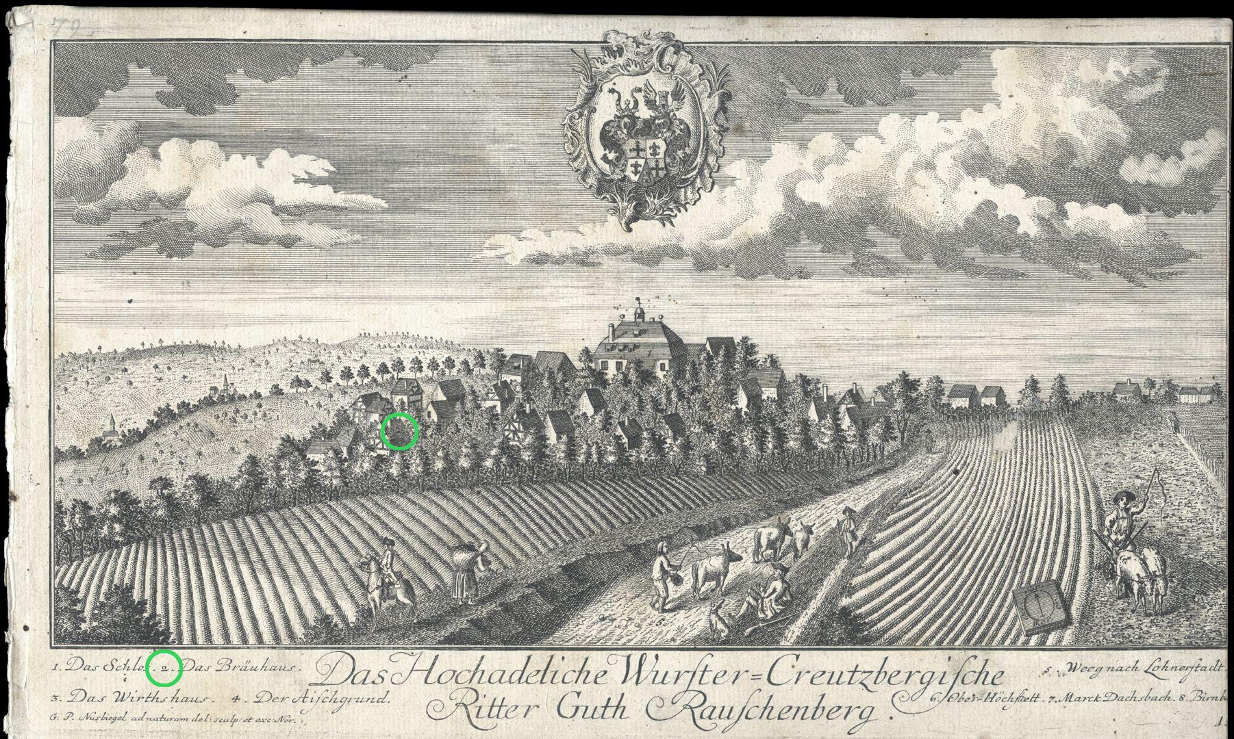 High-nobility-manor Rauschenberg of Wurster-Creutzberg Brewery