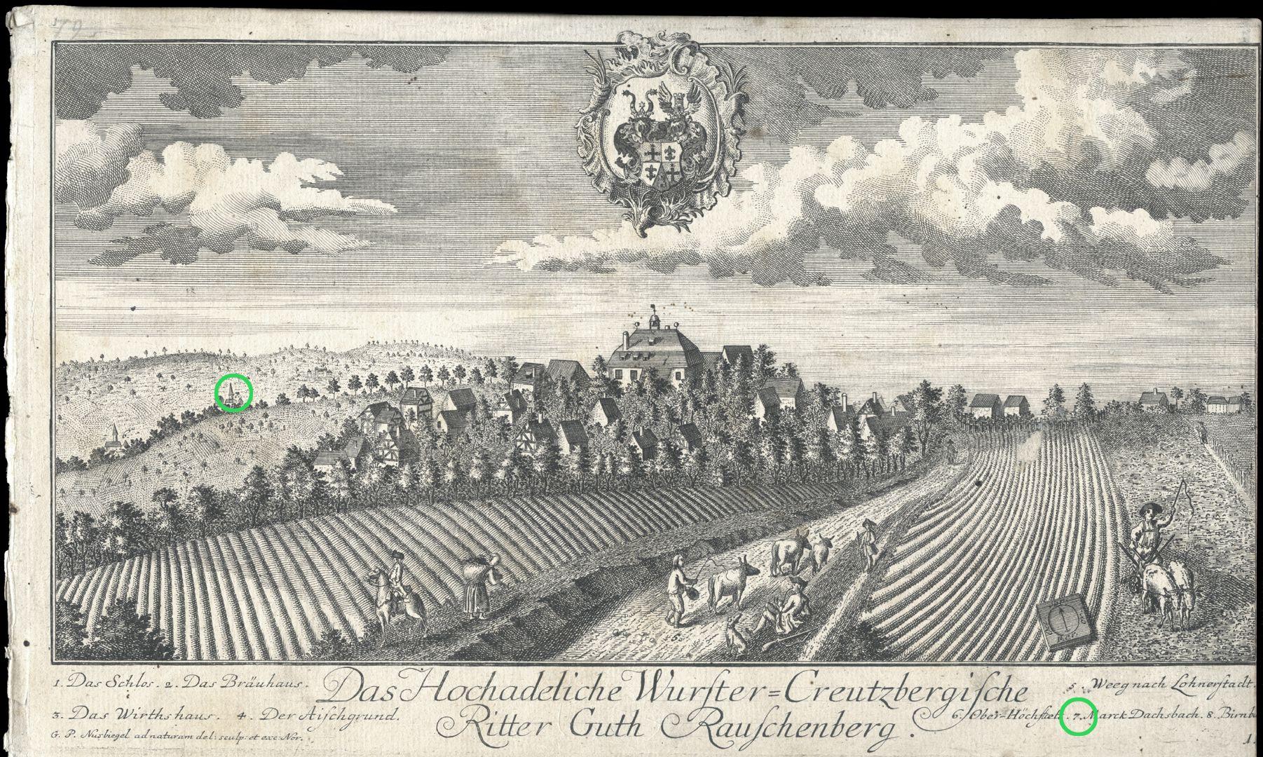 High-nobility-manor Rauschenberg of Wurster-Creutzberg Area Dachsbac