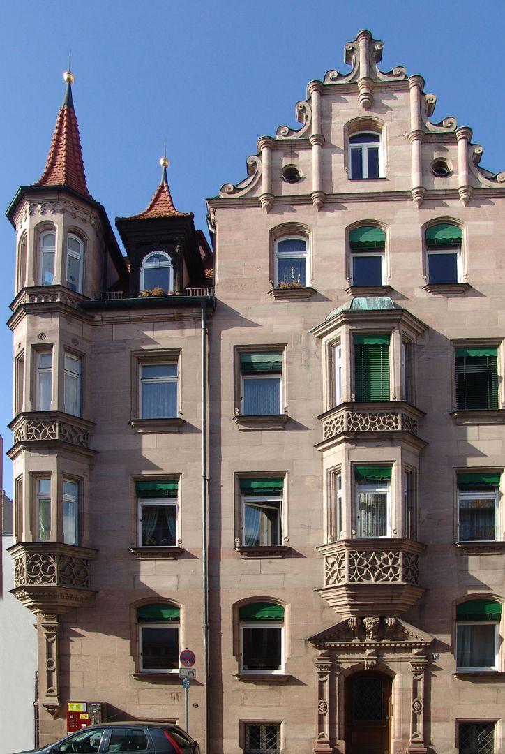 Residential building, Penzstraße 15 Eastern front