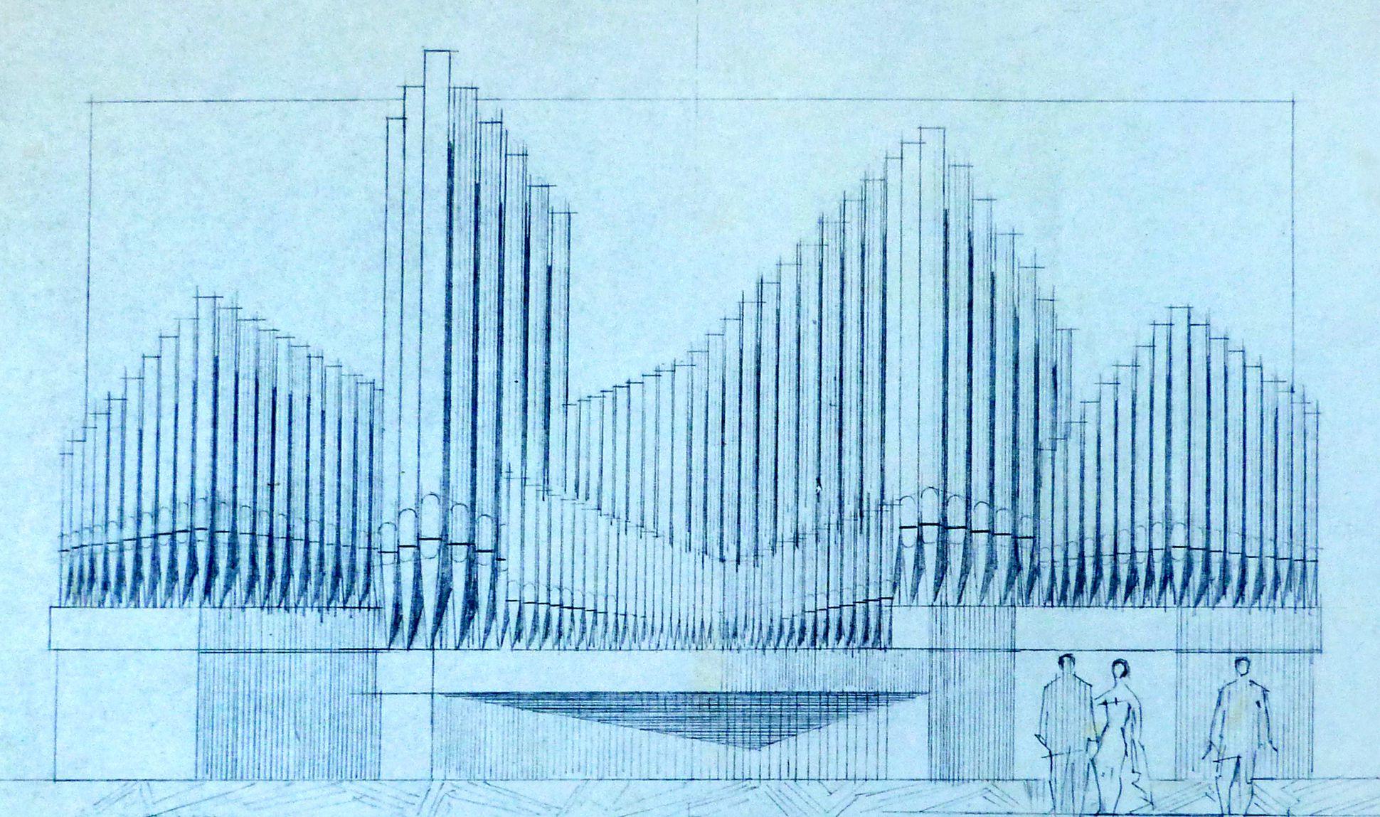 Organ front in Meistersingerhalle Nuremberg Organ front