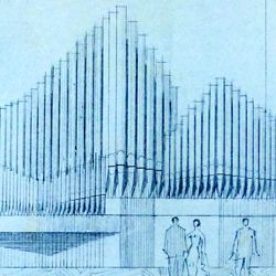 Organ front in Meistersingerhalle Nuremberg