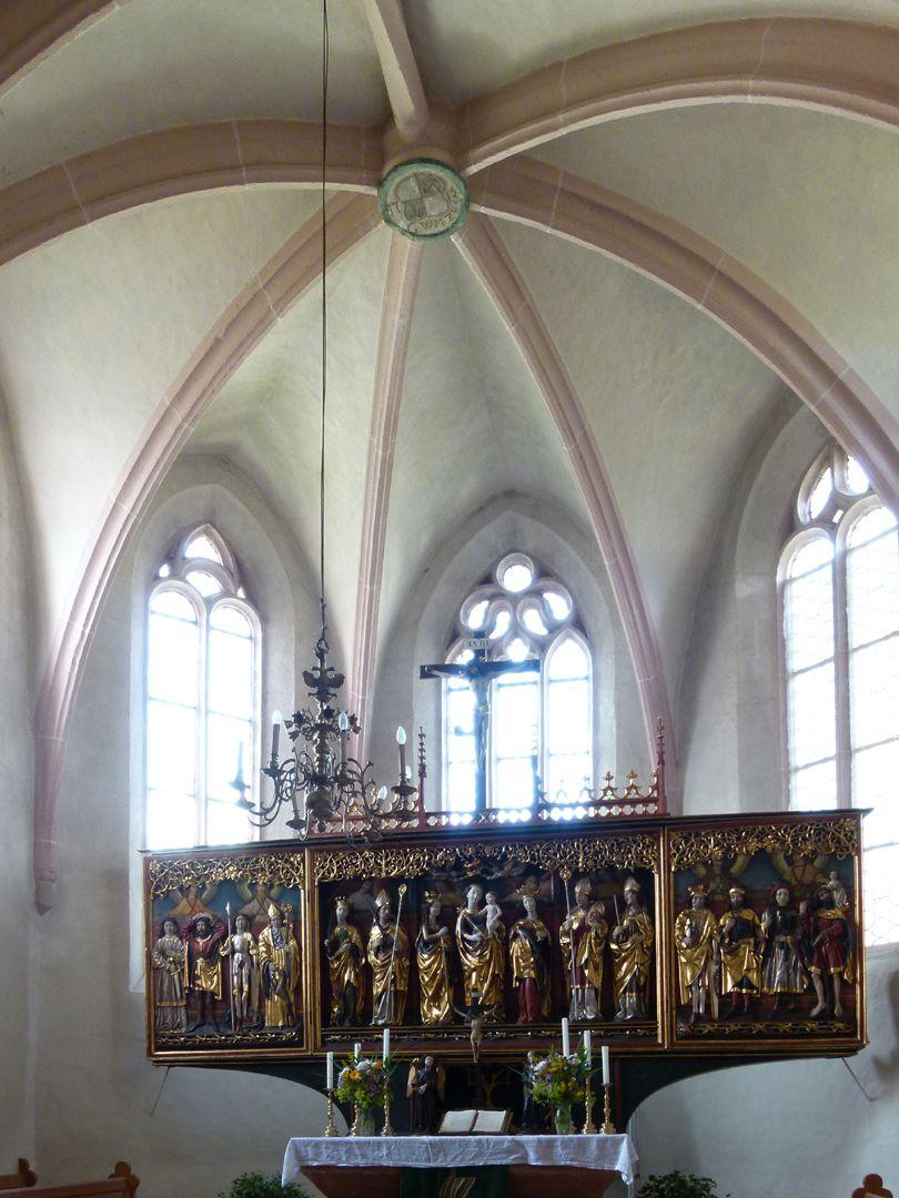 Osternoher Altar Kirchenchor mit Altar