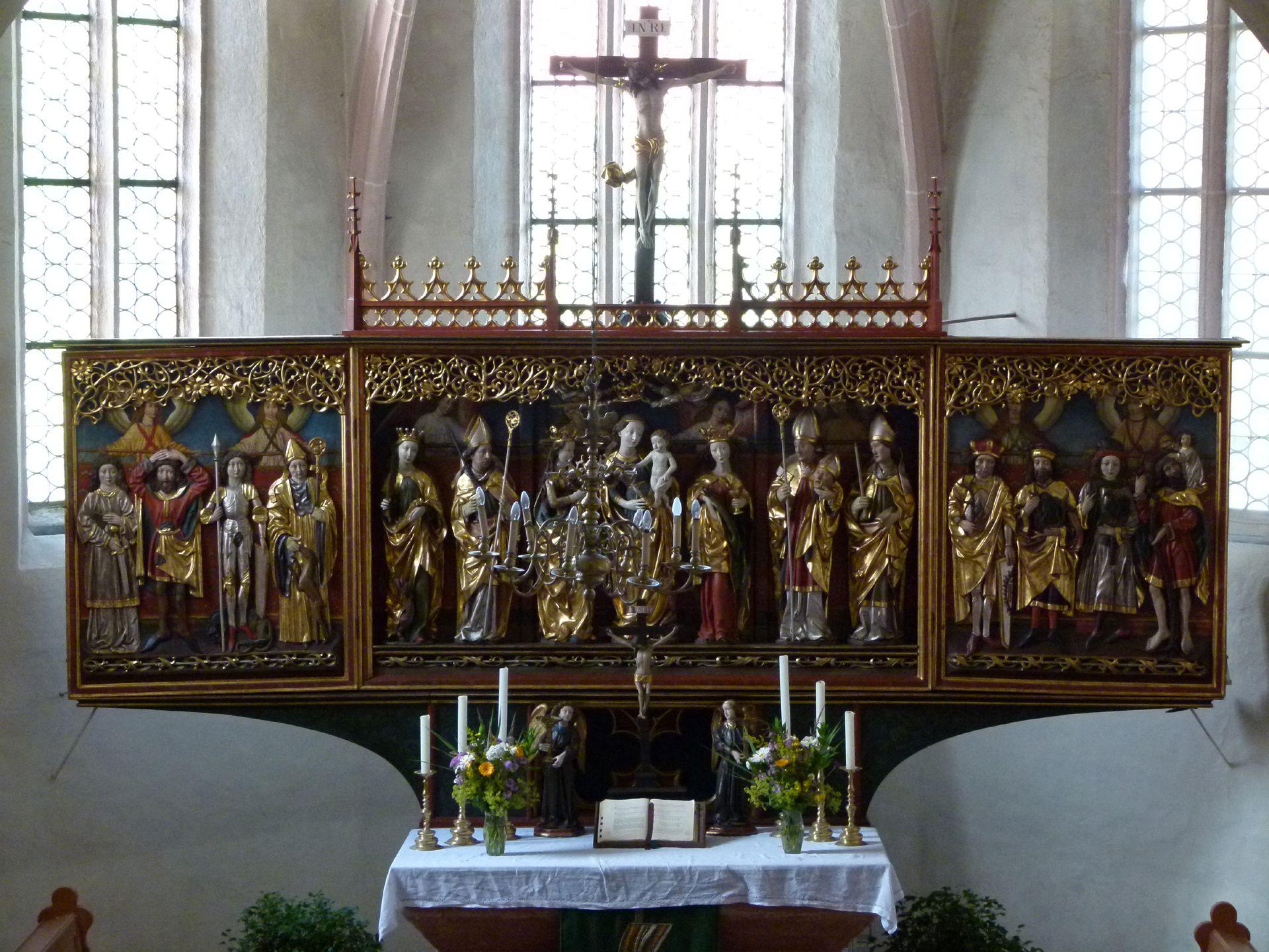 Osternoher Altar Flügelaltar der 14 Nothelfer