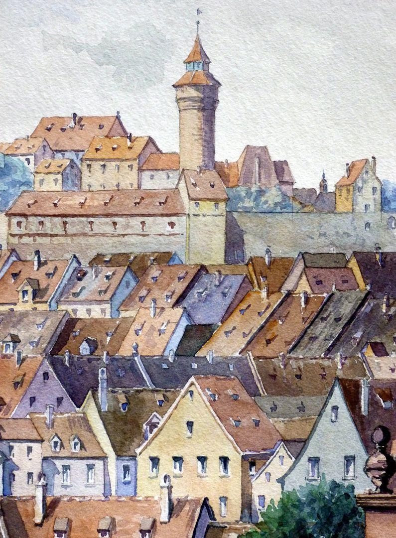 View from Untere Wörthstraße Detail