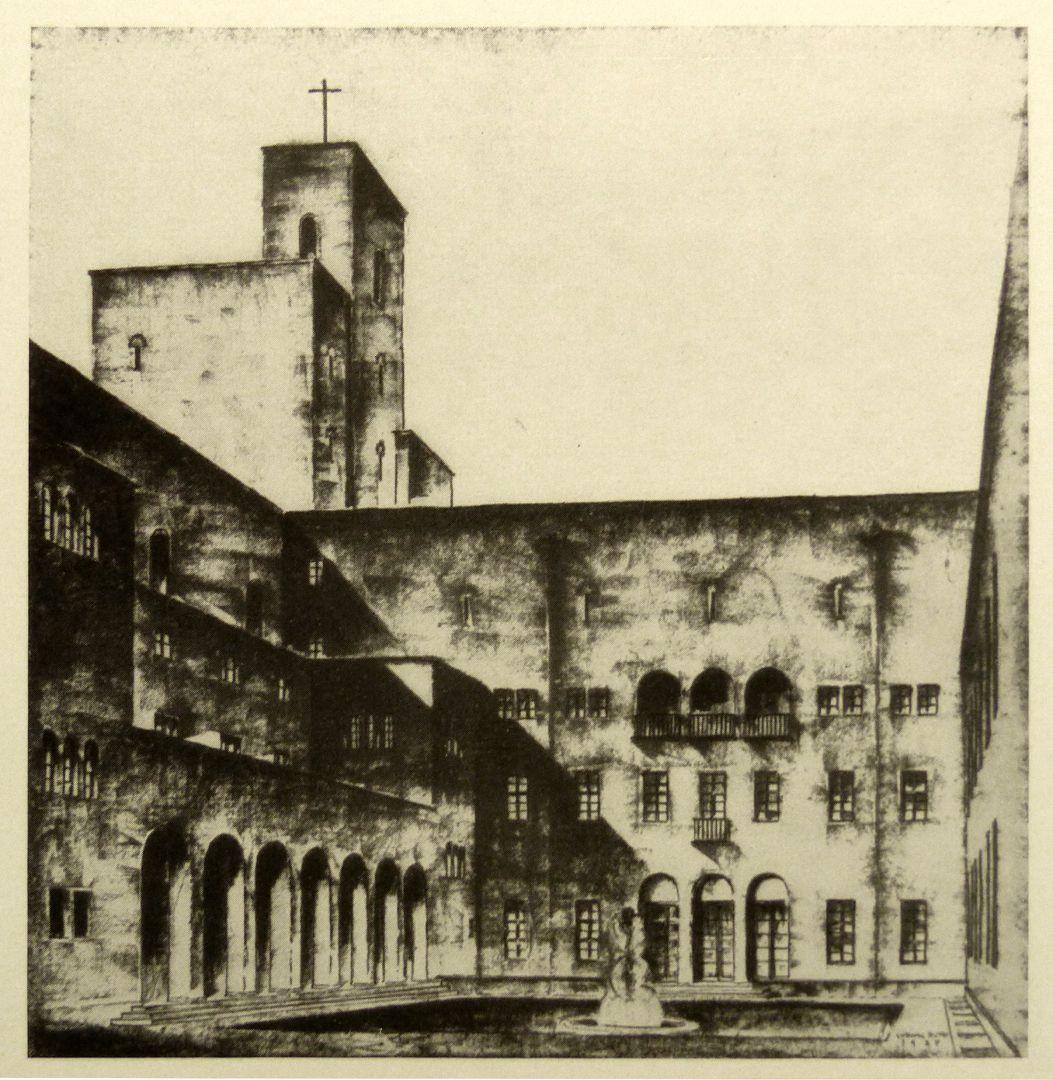 House of the diocese (Bamberg) Ornamental court yard / fig. from Nürnberger Kunst der Gegenwart, Rosenmüller, 1928