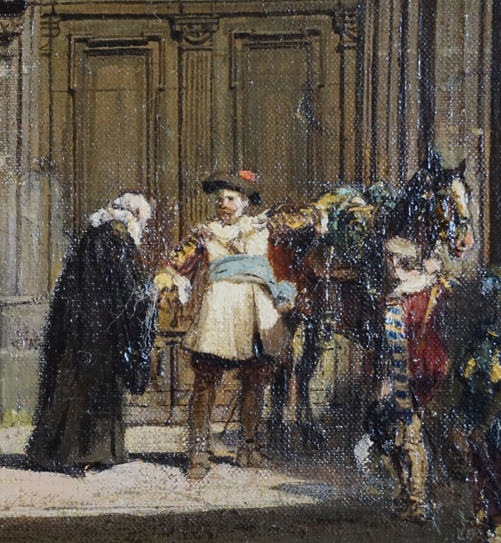 Abschiedsszene Gustav Adolfs und seines Gefolges Verabschiedung des im Aufbruch begriffenen Gustav Adolf
