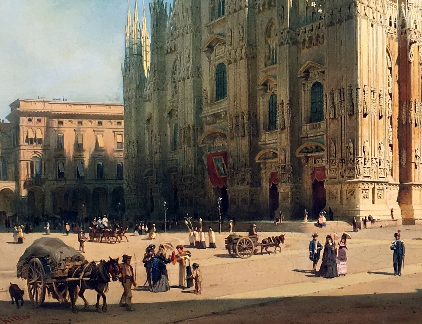 The Milan Cathedral Cathedral, west side, cathedral square
