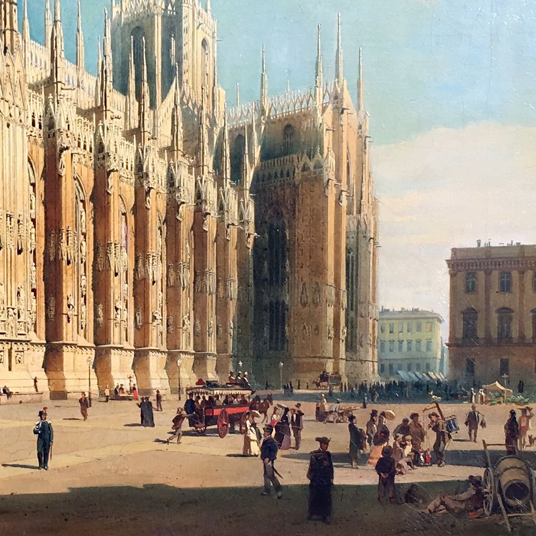 The Milan Cathedral Cathedral, south side, cathedral square