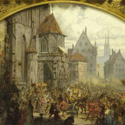 The transfer of the Imperial Regalia in Nuremberg in1424 (draft)
