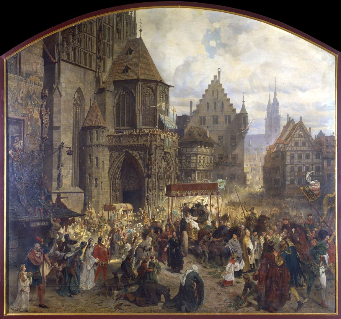 The transfer of the Imperial Regalia in Nuremberg on 22nd March 1424 General view