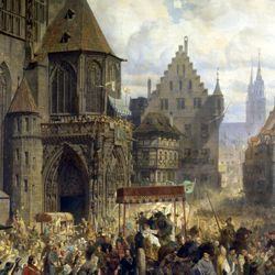 The transfer of the Imperial Regalia in Nuremberg on 22nd March 1424