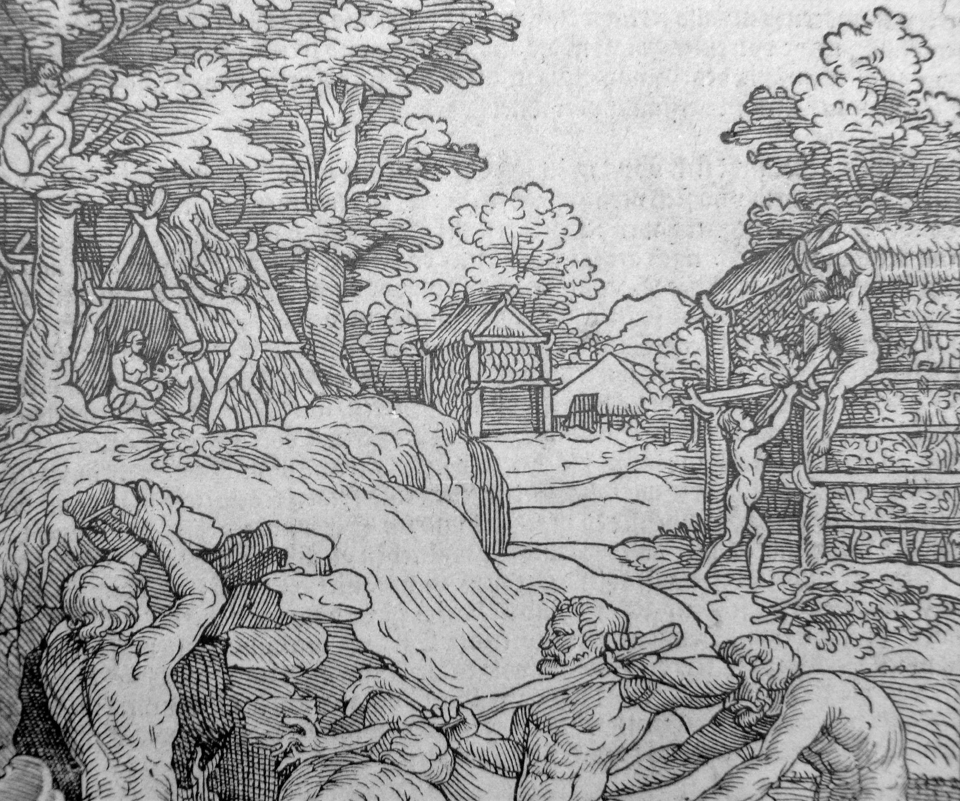 Der erste Hüttenbau Detail: Hintergrund