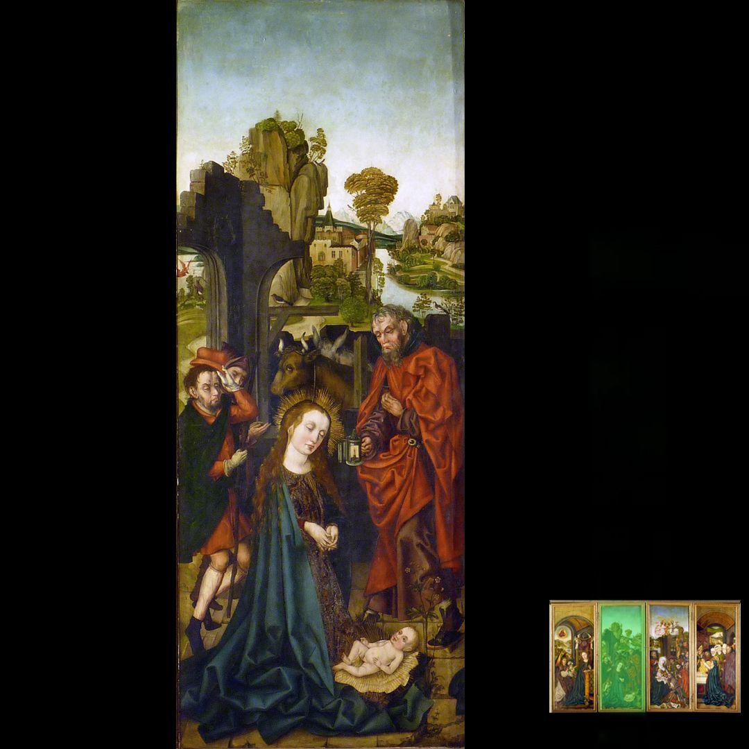 Peringsdörffer Retabel 1. Wandlung, Geburt Christi