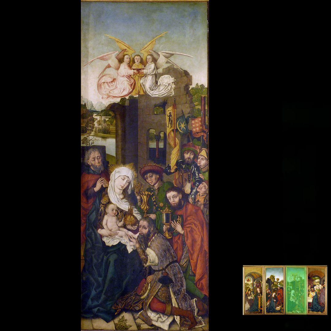 Peringsdörffer Retabel 1. Wandlung, Anbetung der Heiligen Drei Könige