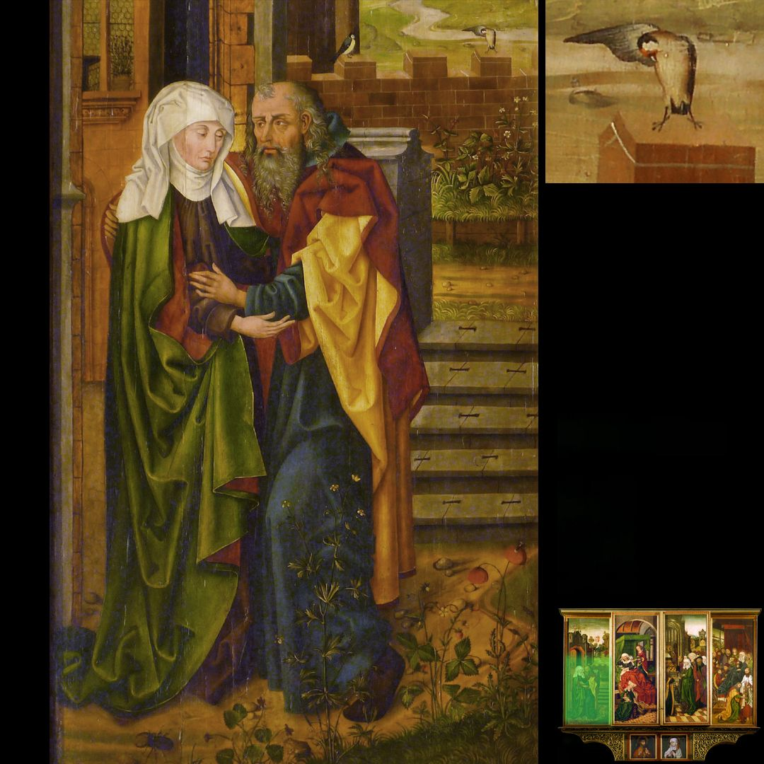 Peringsdörffer Retabel 2. Wandlung, Anna und Joachim an der Goldenen Pforte, Detail